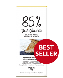 Sesame Black & White - 85% Dark Chocolate Bar