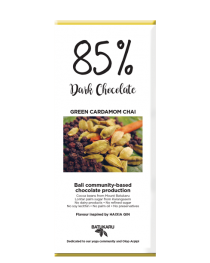 Green Cardamom Chai - 85% Dark Chocolate Bar