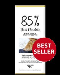 Sesame Black & White - 85% Dark Chocolate Bar