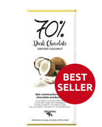 Coconut Grated - 70% Dark Chocolate Bar