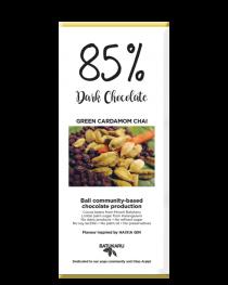Green Cardamom Chai - 85% Dark Chocolate Bar