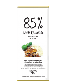 Kaffir Lime Almond - 85% Dark Chocolate Bar