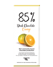Orange - 85% Dark Chocolate Bar